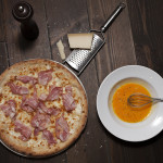 Pizza bacon con queso